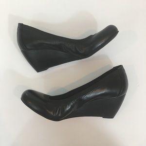 BCBG Paris | Topanga Black Wedge Shoes